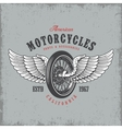 T-shirt print with wheel and wings vector image