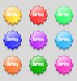 Turkey icon sign symbol on nine wavy colourful vector image vector image