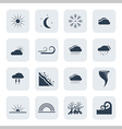 weather and climate icon set vector image