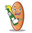 with beer baked bread character cartoon vector image