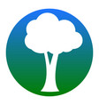tree sign white icon in vector image