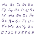 alphabet ink vector image