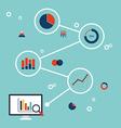 BUSINESS DATA INFORMATION ANALYSIS FLAT DESIGN vector image
