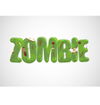Zombie Text vector image