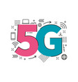 5g sign logo technology network vector image vector image
