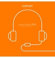 a linear headphone vector image vector image