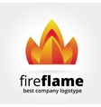 Abstract fire logotype concept isolated on white vector image vector image
