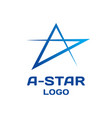 abstract star logo template vector image