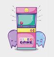 arcade retro console vector image