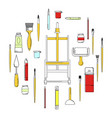 art supplies concept vector image