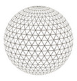ball sphere grid triangle on surface vector image vector image