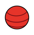 ball sport red flat vector image
