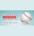 baseball flyer poster template tournament vector image