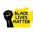 black lives matter design vector image