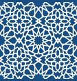 blue islamic pattern seamless arabic geometric vector image vector image