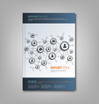 Brochures book or flyer with connection design vector image