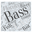 central florida bass fishing Word Cloud Concept vector image vector image