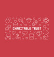 charitable trust horizontal outline vector image vector image