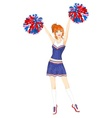 Cheerleader with pom-poms vector | Price: 3 Credits (USD $3)