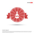 christmas ball icon - red ribbon banner vector image