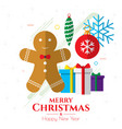 christmas icons internet banner background vector image