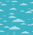 clouds background - seamless cloud texture vector image vector image