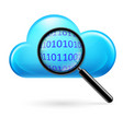 clouds digital search on white background vector image vector image