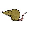 comic cartoon rat vector image vector image