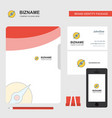 compass business logo file cover visiting card vector image vector image