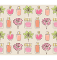 Cosmetics seamless pattern hand drawn Perfume vector image