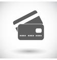 Credit card flat single icon vector image vector image