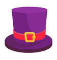 cylinder leprechaun hat isolated on white vector image vector image