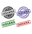damaged textured indiana seal stamps vector image