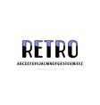decorative sans serif font in retro style vector image vector image