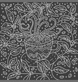 doodle coffee cup vector image vector image