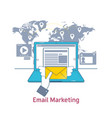 e-mail marketing mailing news letter advertising vector image vector image