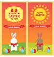 Easter Banner templates vector image