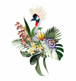 elegant floral and zoo composition vector image