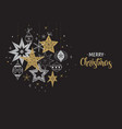 elegant merry christmas background banner vector image vector image