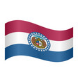 flag of missouri waving on white background vector image vector image