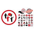 Forum Persons Flat Icon with Bonus vector image vector image