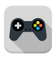 Game controller flat app icon with long shadow vector image vector image