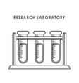 Graphic design of Chemical Laboratory vector image vector image