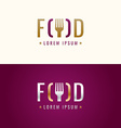 Graphic sign for restaurant or cafe vector image vector image