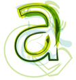 Green letter A vector image vector image