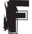 grunge font letter f vector image vector image