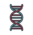 health medical dna molecule genetic line and fill vector image vector image