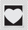heart photo frame insert your photo vector image
