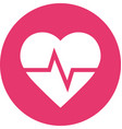 heart rate in circle icon vector image vector image