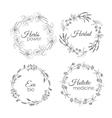 Herbs Floral frames vector image